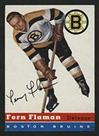 1954-1955 Topps #25 Fern Flaman Boston Bruins - Front