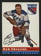 1954-1955 Topps #2 Bob Chrystal New York Rangers - Front