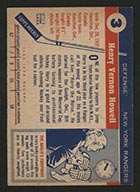 1954-1955 Topps #3 Harry Howell New York Rangers - Back