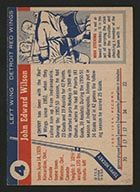1954-1955 Topps #4 Johnny Wilson Detroit Red Wings - Back