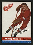 1954-1955 Topps #4 Johnny Wilson Detroit Red Wings - Front