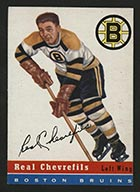 1954-1955 Topps #6 Real Chevrefils Boston Bruins - Front