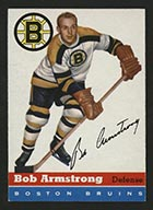 1954-1955 Topps #7 Bob Armstrong Boston Bruins - Front