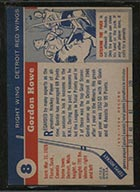 1954-1955 Topps #8 Gordie Howe Detroit Red Wings - Back