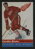 1954-1955 Topps #8 Gordie Howe Detroit Red Wings - Front