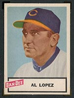 1954 Dan-Dee Potato Chips Al Lopez Cleveland Indians - Front