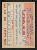 1954 Dan-Dee Potato Chips Al Rosen Cleveland Indians - Back