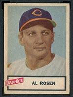 1954 Dan-Dee Potato Chips Al Rosen Cleveland Indians - Front