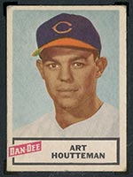 1954 Dan-Dee Potato Chips Art Houtteman Cleveland Indians - Front