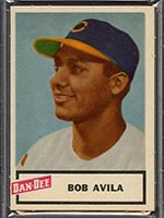 1954 Dan-Dee Potato Chips Bob Avila Cleveland Indians - Front