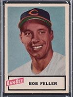 1954 Dan-Dee Potato Chips Bob Feller Cleveland Indians - Front