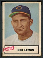 1954 Dan-Dee Potato Chips Bob Lemon Cleveland Indians - Front