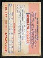 1954 Dan-Dee Potato Chips Duke Snider Brooklyn Dodgers - Back