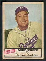 1954 Dan-Dee Potato Chips Duke Snider Brooklyn Dodgers - Front