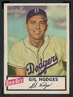 1954 Dan-Dee Potato Chips Gil Hodges Brooklyn Dodgers - Front