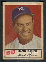 1954 Dan-Dee Potato Chips Hank Bauer New York Yankees - Front