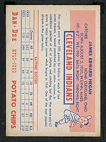 1954 Dan-Dee Potato Chips Jim Hegan Cleveland Indians - Back