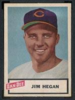 1954 Dan-Dee Potato Chips Jim Hegan Cleveland Indians - Front
