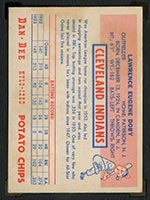 1954 Dan-Dee Potato Chips Larry Doby Cleveland Indians - Back
