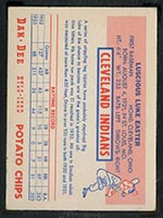 1954 Dan-Dee Potato Chips Luke Easter Cleveland Indians - Back