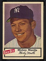1954 Dan-Dee Potato Chips Mickey Mantle New York Yankees - Front