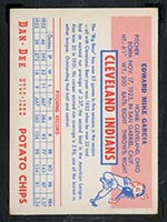1954 Dan-Dee Potato Chips Mike Garcia Cleveland Indians - Back