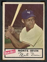 1954 Dan-Dee Potato Chips Monte Irvin New York Giants - Front
