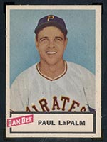 1954 Dan-Dee Potato Chips Paul LaPalm Pittsburgh Pirates - Front