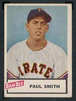 1954 Dan-Dee Potato Chips Paul Smith Pittsburgh Pirates - Front