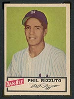 1954 Dan-Dee Potato Chips Phil Rizzuto New York Yankees - Front