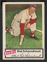 1954 Dan-Dee Potato Chips Red Schoendienst St. Louis Cardinals - Front