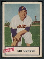1954 Dan-Dee Potato Chips Sid Gordon Pittsburgh Pirates - Front