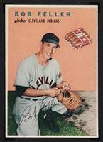 1954 Wilson Franks Bob Feller Cleveland Indians - Front