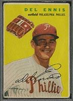 1954 Wilson Franks Del Ennis Philadelphia Phillies - Front