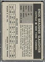 1954 Wilson Franks Enos Slaughter New York Yankees - Back