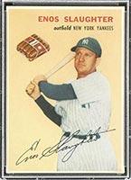 1954 Wilson Franks Enos Slaughter New York Yankees - Front