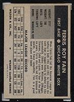 1954 Wilson Franks Ferris Fain Chicago White Sox - Back