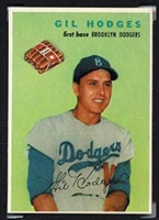 1954 Wilson Franks Gil Hodges Brooklyn Dodgers - Front