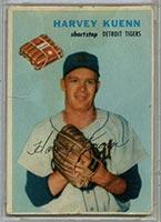 1954 Wilson Franks Harvey Kuenn Detroit Tigers - Front
