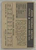 1954 Wilson Franks Johnny Groth Chicago White Sox - Back