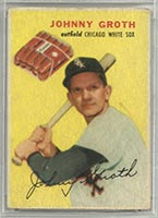 1954 Wilson Franks Johnny Groth Chicago White Sox - Front