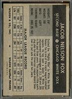 1954 Wilson Franks Nellie Fox Chicago White Sox - Back