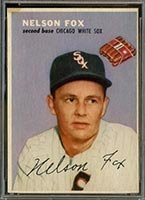 1954 Wilson Franks Nellie Fox Chicago White Sox - Front