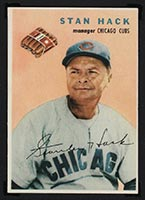 1954 Wilson Franks Stan Hack Chicago Cubs - Front