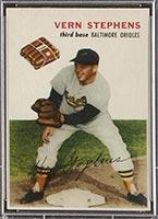 1954 Wilson Franks Vern Stephens Baltimore Orioles - Front