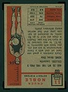 1957-1958 Topps #11 Chuck Noble Detroit Pistons - Back