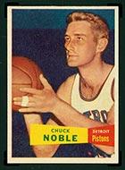 1957-1958 Topps #11 Chuck Noble Detroit Pistons - Front