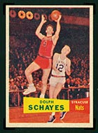 1957-1958 Topps #13 Dolph Schayes Syracuse Nationals - Front