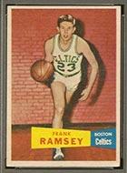 1957-1958 Topps #15 Frank Ramsey Boston Celtics - Front
