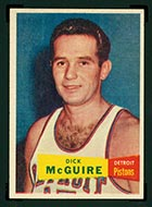 1957-1958 Topps #16 Dick McGuire Detroit Pistons - Front